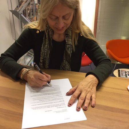 Handtekening bij notaris